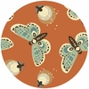 Teagan White for Birch Organic Fabrics, Fort Firefly, Fireflies Coral