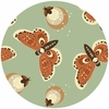 Teagan White for Birch Organic Fabrics, Fort Firefly, Fireflies Mineral
