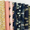 Teresa Chan for Camelot Fabrics, Mystic Cranes, Waves Navy Gold Metallic