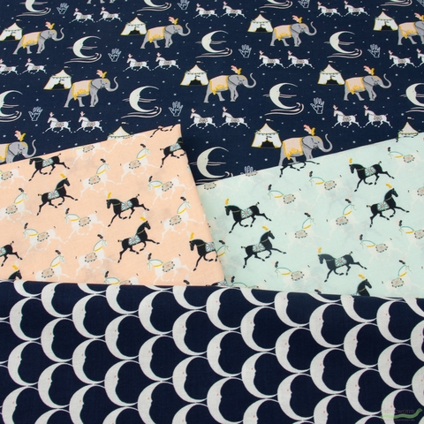 Teresa Chan for Camelot, Night Circus, Horses Blue