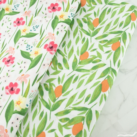 Tessie Fay for Windham, Cora, Happy Floral White