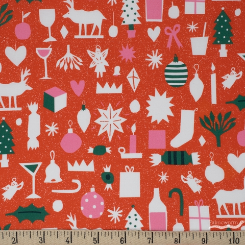 The Printed Peanut for FIGO, Wintertide, Christmas Cutouts Red