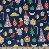 The Printed Peanut for FIGO, Wintertide, Ornaments Navy