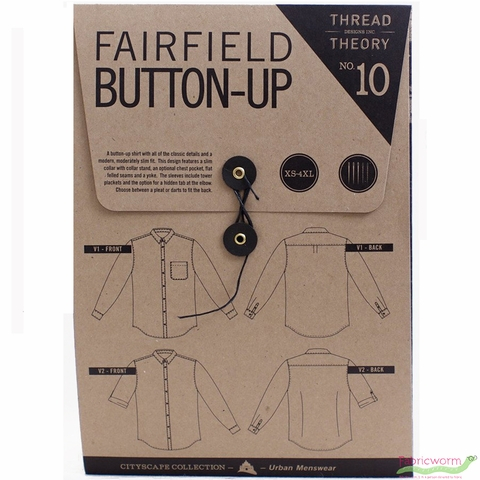 Thread Theory, Sewing Pattern, Fairfield Button-up Shirt