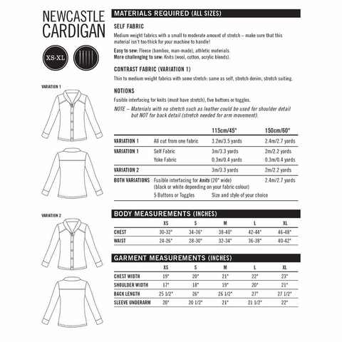 Thread Theory, Sewing Pattern, Newcastle Cardigan
