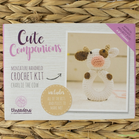 Threaders by Crafter's Campanion, Crochet Kit, Charlie The Cow