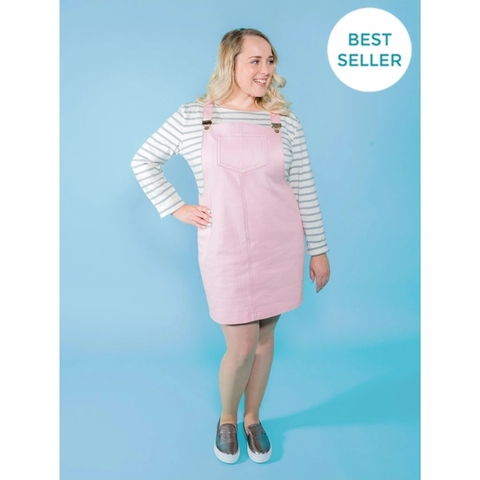 Tilly and the Buttons, Sewing Pattern, Cleo Dungaree Dress
