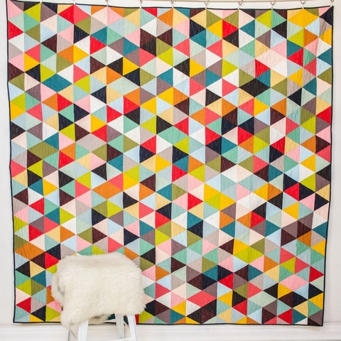 Tri Love Quilt Kit featuring Birch Organic Solids (PRECUT)