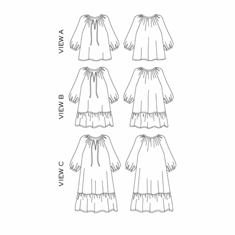 True Bias, Sewing Pattern, Roscoe Blouse & Dress