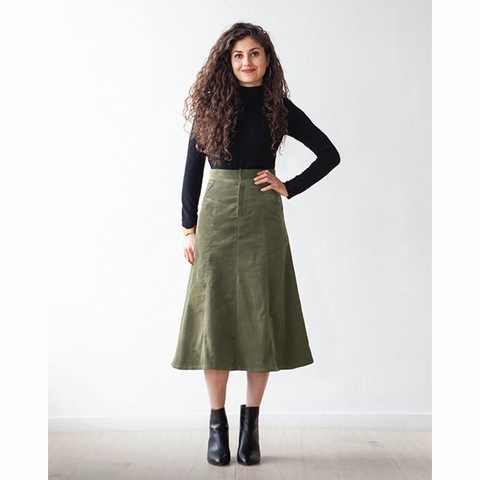 True Bias, Sewing Pattern, Salida Skirt