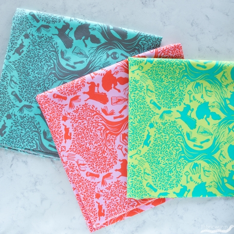 Tula Pink for Free Spirit, Curiouser & Curiouser, Down The Rabbit Hole Daydream