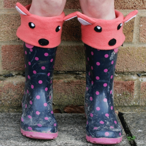 Sewing Tutorial & Free Pattern|Fox & Bear Welly Liners by The Crafty Kitty