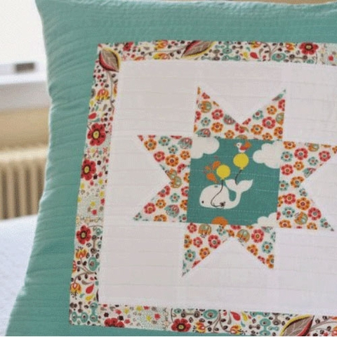 Sewing Tutorial & Free Pattern|Frolic Floor Pillow by Plum and June