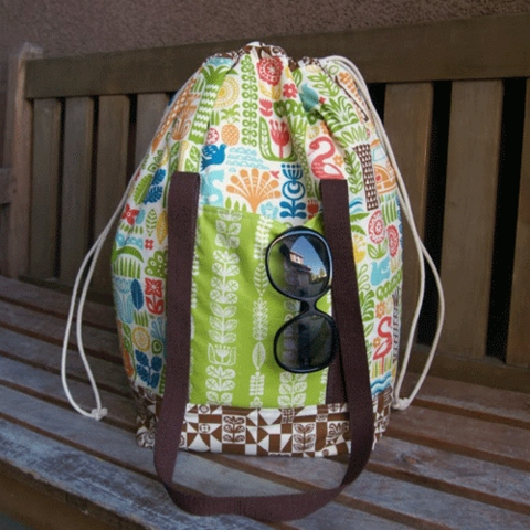 Sewing Tutorial & Free Pattern|Ipanema Beach Bag by The Fabric Mutt