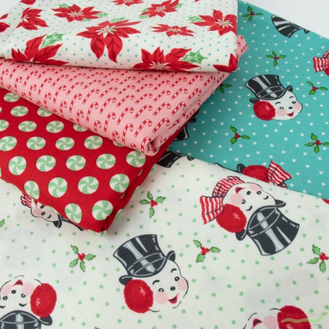 Urban Chiks for Moda, Sweet Christmas, Peppermint Polka Dot Peppermint
