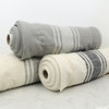 Urban Chiks for Moda, Urban Cottage, TOWELING, Center Stripe Gray Ivory