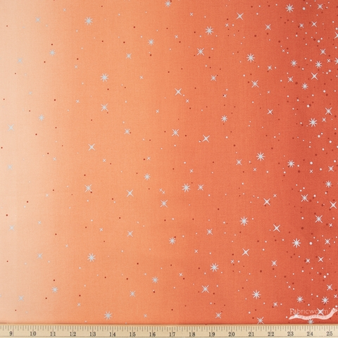 V and Co. for Moda Fabrics, Ombre Fairy Dust, Persimmon