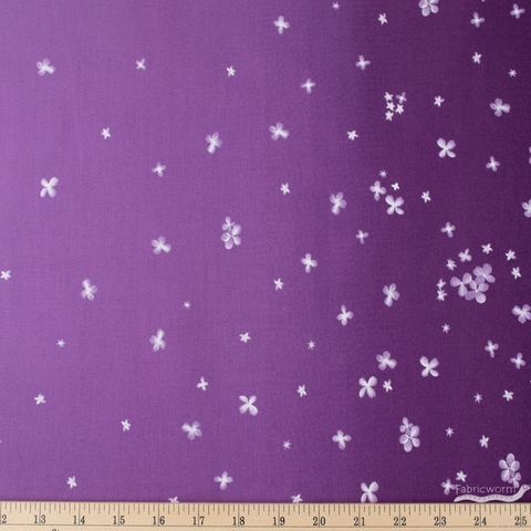 V and Co. for Moda, Ombre Bloom, Double Border Aubergine