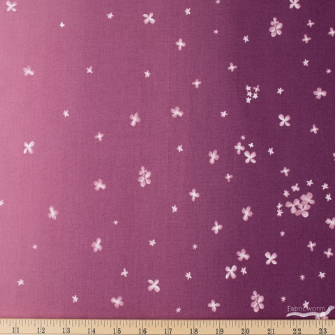 V and Co. for Moda, Ombre Bloom, Double Border Plum