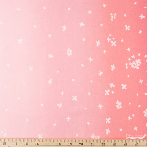 V and Co. for Moda, Ombre Bloom, Double Border Popsicle Pink