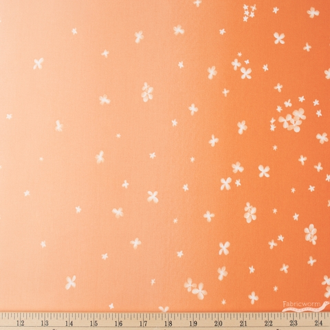 V and Co. for Moda, Ombre Bloom, Double Border Tangerine