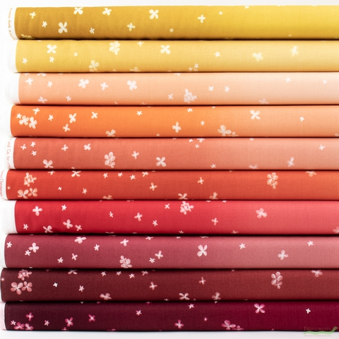 V and Co. for Moda, Ombre Bloom, Fall Leaves in FAT QUARTERS 10 Total