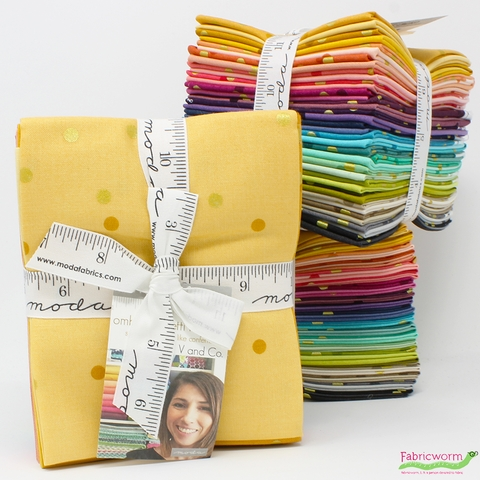 V & Co. for Moda, Ombre Confetti Metallic, Double Border, PRE-CUT in FAT QUARTERS 20 Total