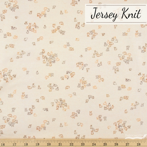 Vanessa Lillrose & Linda Fitch for Robert Kaufman, Petit Jersey Knits, Bunny Bunch Peach