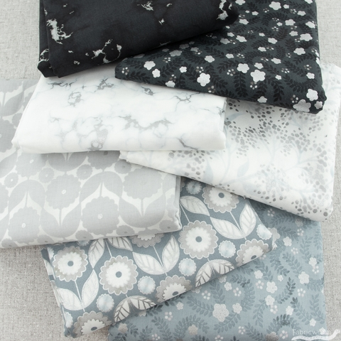 Vanessa Lillrose & Linda Fitch for Robert Kaufman, Silverstone, Hints of Silver Bundle 7 Total