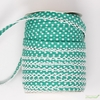 Vintagedoor, Crochet Edge Double Fold Bias, Dots Seafoam