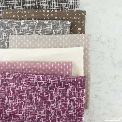 Violet Craft for Robert Kaufman, Modern Classics, Starburst Doeskin