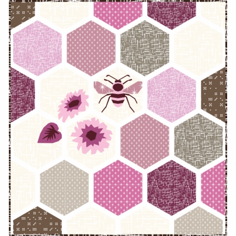 Violet Craft, Sewing Pattern, Honeycomb Abstractions Quilt