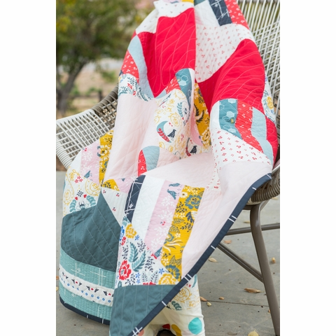 Waffle Cone Quilt Kit Featuring Merryweather