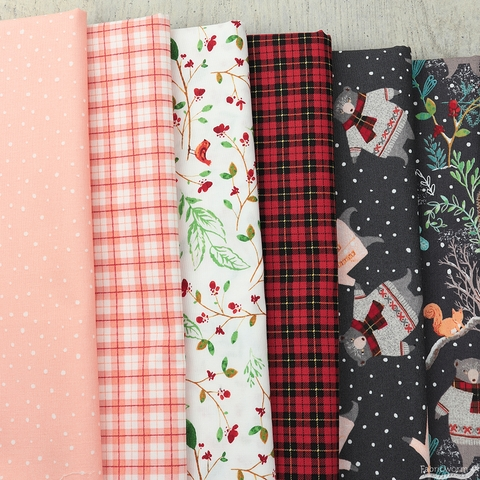 Whistler Studios for Windham, A Walk in the Woods, Holiday Plaid Red