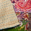 Whistler Studios for Windham, Hand Embroidered Kantha, Patch Tan/ Multi