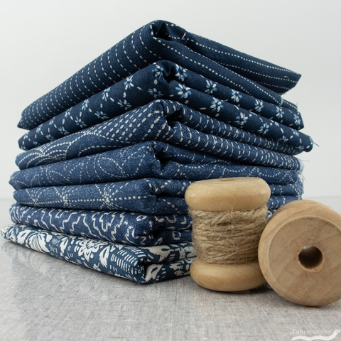 Whistler Studios for Windham, Sashiko, Diamond Flower Indigo