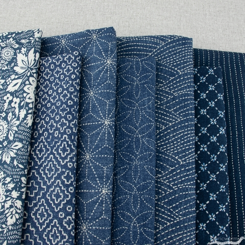 Whistler Studios for Windham, Sashiko, Medium Bundle 7 Total