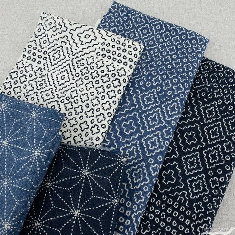 Whistler Studios for Windham, Sashiko, Stars Indigo