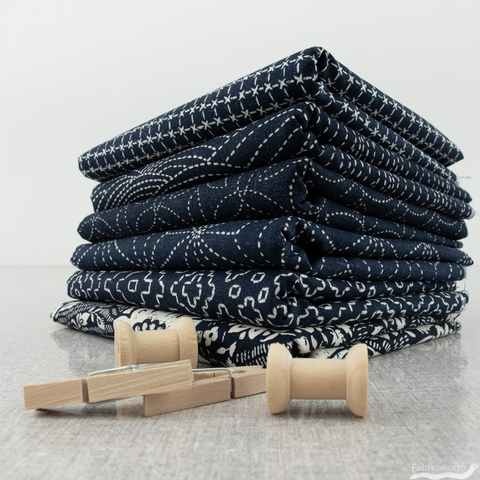 Whistler Studios for Windham, Sashiko, Stitch Sampler Indigo