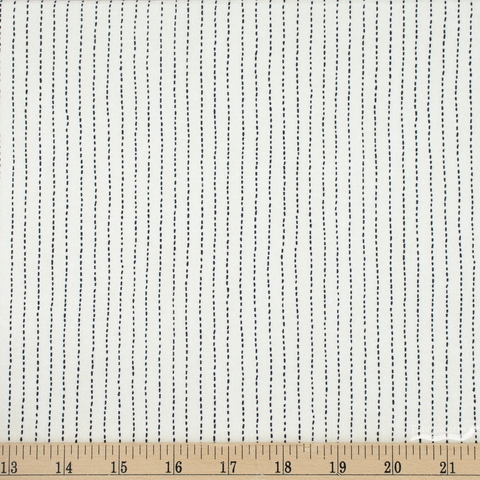 Whistler Studios for Windham, Sashiko, Stitched Stripe Ivory