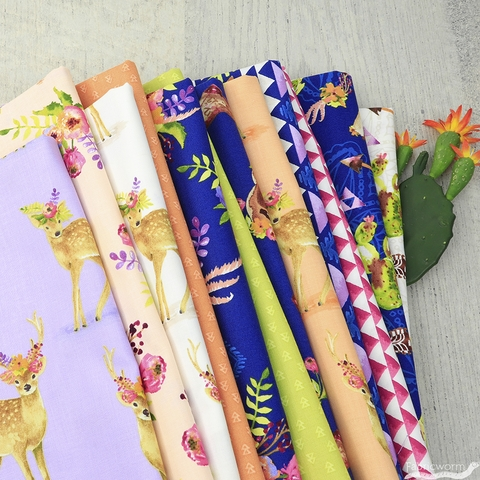 Whistler Studios for Windham, Wanderer's Weekend, Floral Fawns Linen