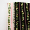 Winter Rose by Andover, Garland Stripe Black