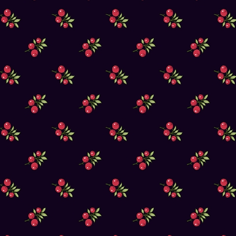 Winter Rose by Andover, Holly Berries Black