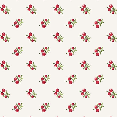 Winter Rose by Andover, Holly Berries Cream