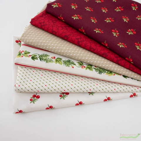 Winter Rose by Andover, Traditional Tidings Bunde 6 Total