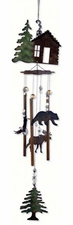 "28"" Rustic Cabin Fever Wind Chime, Wilderness Wonders"