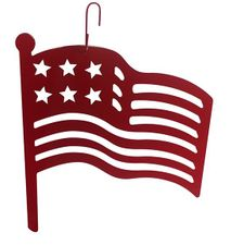 American Flag Silhouette, Hanging Art, Red, Wrought Iron