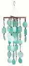 Aqua Capiz Chime with Wooden Beads, Woodstock Chimes