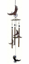 Bald Eagle Wind Chime, Metal, Flying Eagles, Wilderness Wonders