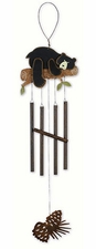 Bear Hug Wind Chime, Wilderness Wonders, Metal